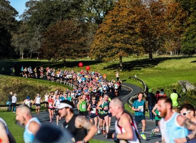 Runners pass through the Phoenix Park during this year's Dublin marathon.