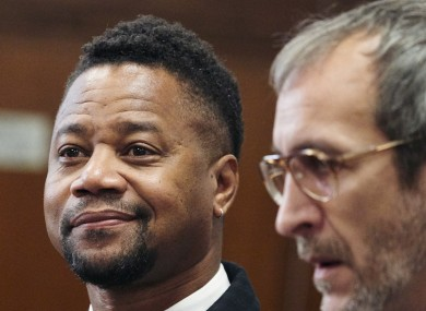Cuba Gooding Jr. appears in a courtroom in New York yesterday.