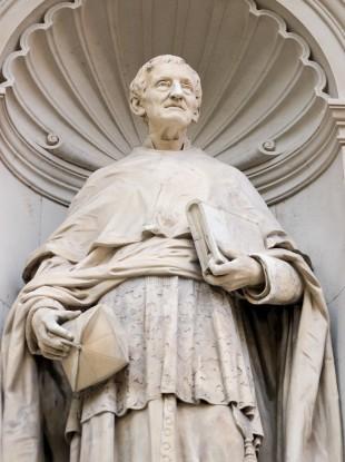 Historic statue of Cardinal John Henry Newman.