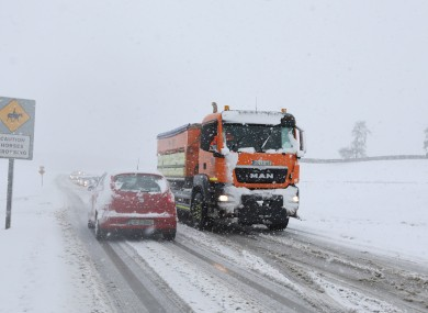 Snowfalls caused severe disruption in March 2018.