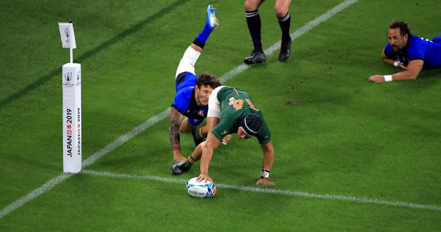 As it happened: South Africa v Italy, Rugby World Cup