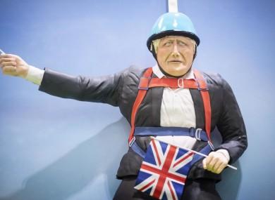 A life-size Boris Johnson cake unveiled on Friday.