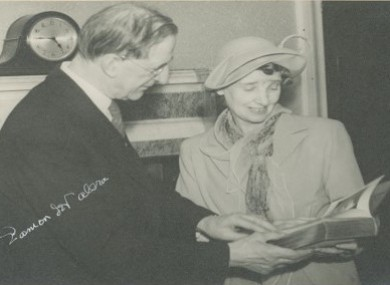 Dorothy McArdle with Eamon De Valera
