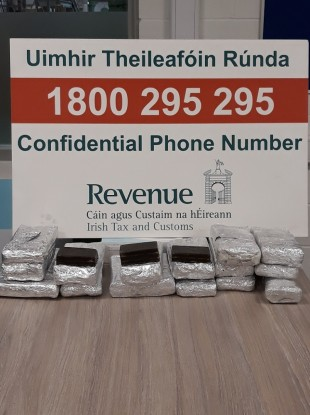 Drugs seized by Revenue.