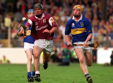 Eamonn Corcoran (right) in action for Tipperary against Galway's Alan Kerins in 2001.