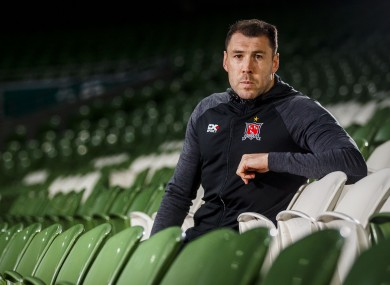 Dundalk's Brian Gartland pictured during FAI Cup Finals Media Day at the Aviva Stadium.