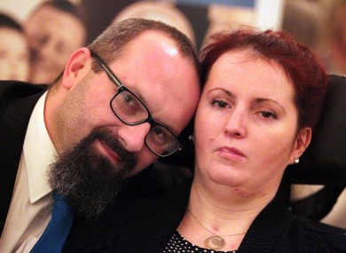 Marcin Filak from Kildalkey, Co Meath cares for his wife Ola who suffers from locked-in syndrome.