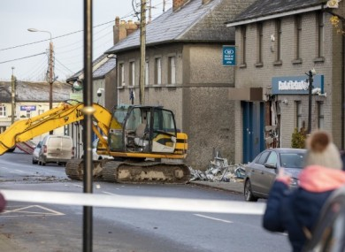 A photo taken at the scene in Dunleer.