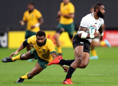 Radradra scored two tries at the Rugby World Cup.