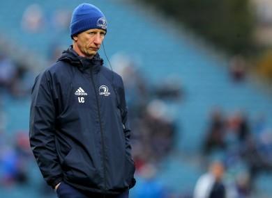 Leinster head coach Leo Cullen.