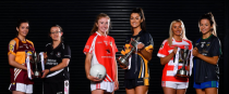 Player representatives from each of the clubs at 2019 All-Ireland Ladies Club Football Finals Captains' Day.