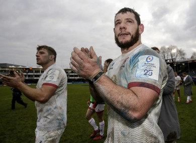 Ulster's Marcell Coetzee celebrates after the game.