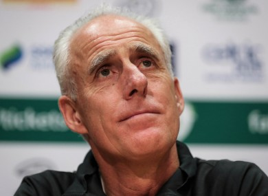 Mick McCarthy speaks to the media today.