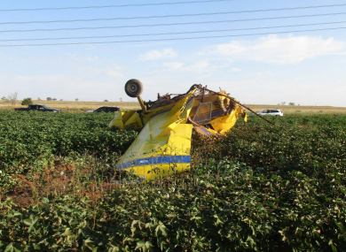 A view of the crashed plane.