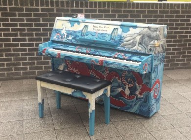 The piano in Pearse Station