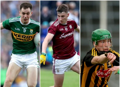 Kerry's Jack Barry, Galway's Matthew Tierney and Kilkenny's Martin Keoghan were all part of victories today.