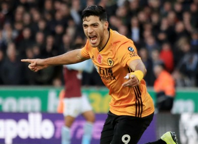 Wolves striker Raul Jimenez found the net today.