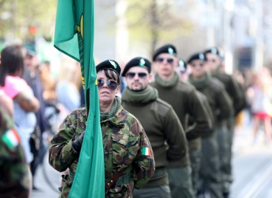 Members of Saoradh marching on the 103rd anniversary of the 1916 Rising earlier this year.