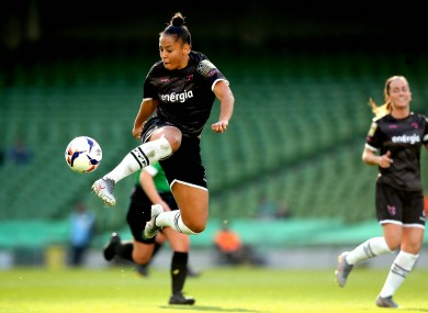 Rianna Jarrett in action for Wexford Youths in the FAI Cup final.