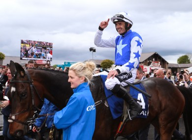 Ruby Walsh and Kemboy just before he announced his retirement at after winning the Punchestown Gold Cup this year.