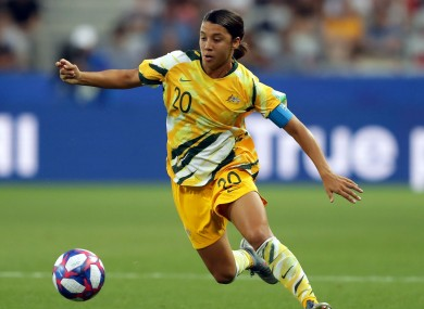 Australia forward Sam Kerr.