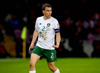Republic of Ireland captain Seamus Coleman