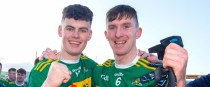 Commercials' Seán O Connor and Séamus Kennedy celebrate (file pic).