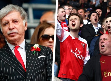 Arsenal fans have expressed their unhappiness with owner Stan Kroenke.