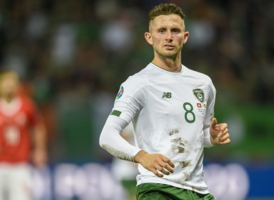 Alan Browne featured in Ireland's last qualifier with Switzerland.