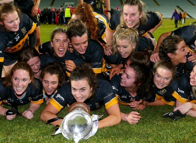 The Mourneabbey team celebrate becoming the All Ireland Ladies Senior Club Football Champions.
