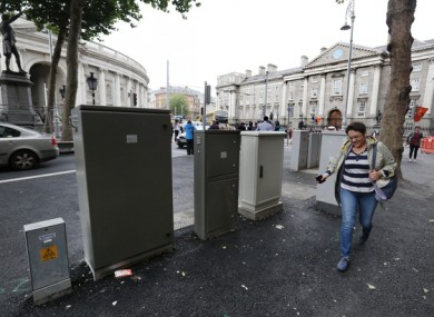 Utility boxes in College Green.