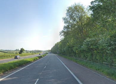 The collision occurred on the A1 southbound at around 12.45pm