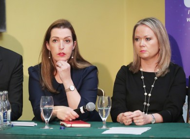 Donal Buggy, Vicky Phelan and Lorraine Walsh at the launch of 221+ Cervical Check Patient Support Group.
