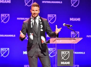 Inter Miami co-owner David Beckham.