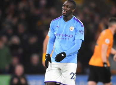 Benjamin Mendy was at fault for one of the goals Man City conceded.