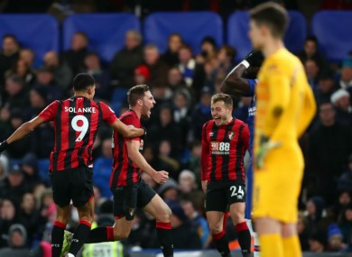 Bournemouth their late winner at Chelsea.
