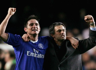 Frank Lampard and Jose Mourinho.