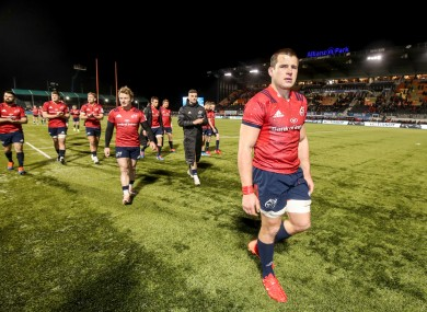 A dejected CJ Stander after Munster's defeat to Saracens.