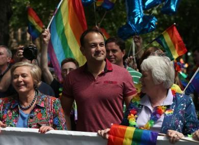 Varadkar at the Gay Pride parade in 2017.