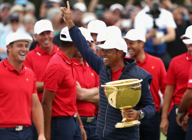 Captain: Tiger went unbeaten in his three matches.
