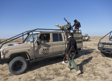 Paramilitary Popular Mobilization Forces and local tribal militias participate in the military operations of the Iraqi army.