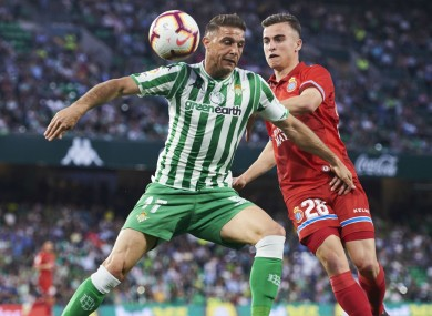 Joaquin pictured competing for Real Betis.