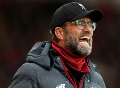 Jurgen Klopp was happy to see his side earn a rare clean sheet.