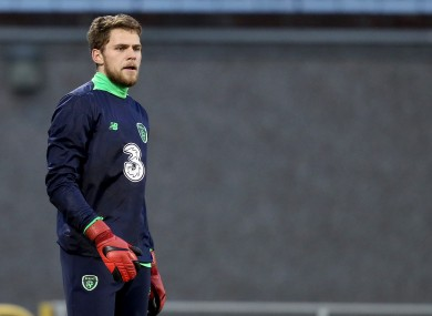 Liam Bossin training with Ireland U21s.