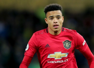 Manchester United forward Mason Greenwood.