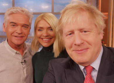 Johnson shared a selfie from the set of the ITV programme.