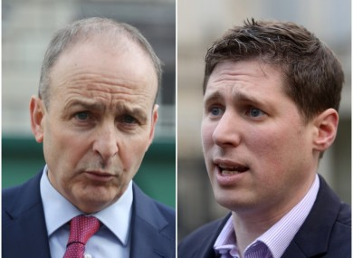 FF's Micheál Martin (left) was criticised today by Sinn Féin MEP Matt Carthy