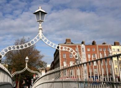 File photo - the Ha'penny Bridge in Dublin.