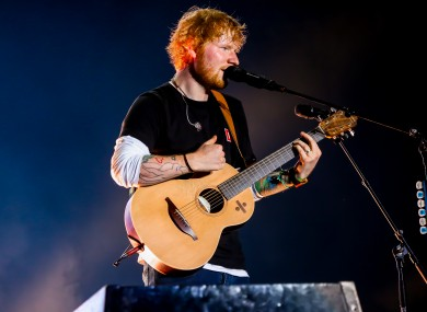 Ed Sheeran had two of the most streamed songs of this decade.