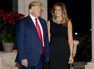 Trump and wife Melania at his Mar-a-lago resort in Florida.